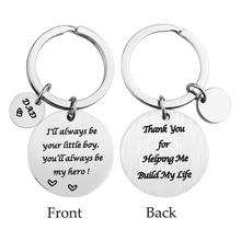Stainless Steel Keychain Fathers Day Gift Birthday Boy Girl Give Dad Perfect Never Fade Express Your Love For Father