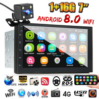 7 Inch Android 8.0 Double Din Stereo Radio GPS Sat Nav bluetooth FM USB WIFI Car MP5 Player Multi lanuage Support Built in WIFI