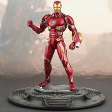 9092186d0a6 Marvel Os Vingadores Homem de ferro brinquedos modelo boneca de Super hero  MK50 mrke50 MK46 MK47