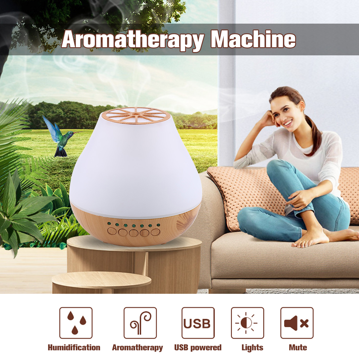 400ml Ultrasonic Aroma Diffusers Air Humidifiers Bluetooth Speaker LED Night Light Aromatherapy Machine For Home Office