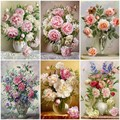 HUACAN DIY 5D Diamond Painting Peony Icon Modern Home Decoration Full Square Diamond Embroidery Flowers Weeding Gifts F1308