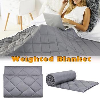 Manta ponderada de algodón de cuatro tamaños para adultos, mantas de descompresión por gravedad, ayuda para dormir, manta de presión ponderada por presión