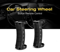 Universal Car Steering Wheel Control Button 6 Key Remote Control Auto Music DVD GPS Controlling Hands free Call Black