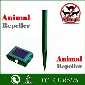 Image 4 - Répulsif solaire ultrasonique, 2 pièces, répulsif pour animaux de plein air, répulsif pour chien/chat/oiseau/taupe, PIR, renards, fournitures de jardin