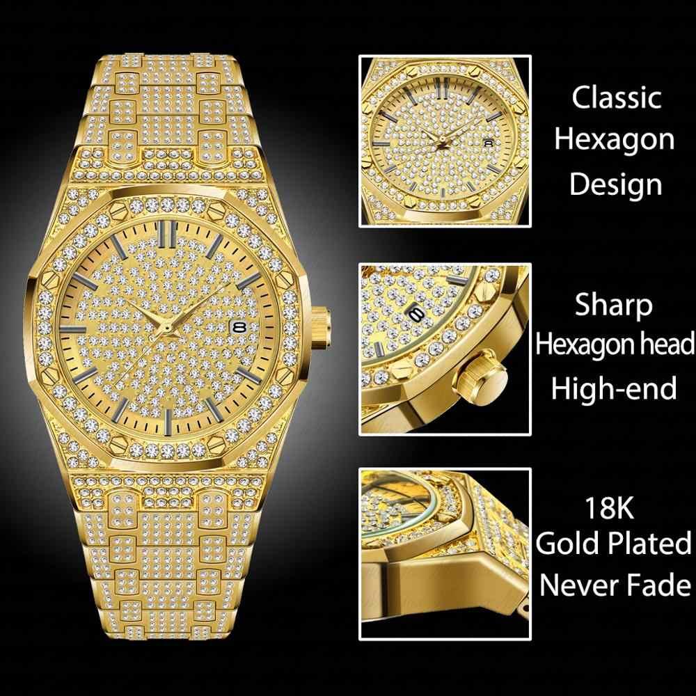 MISSFOX ساعة نسائية ساعات فاخرة ماركة 2019 18K ساعة ذهبية موضة التقويم سيدة ساعة ماسية أنثى كوارتز ساعات المعصم ساعة