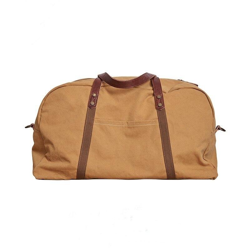 Vintage Canvas Luggage bag Men Travel Bags Carry on Large Men Duffel Bags shoulder Weekend bag Overnight Big tote Handbag