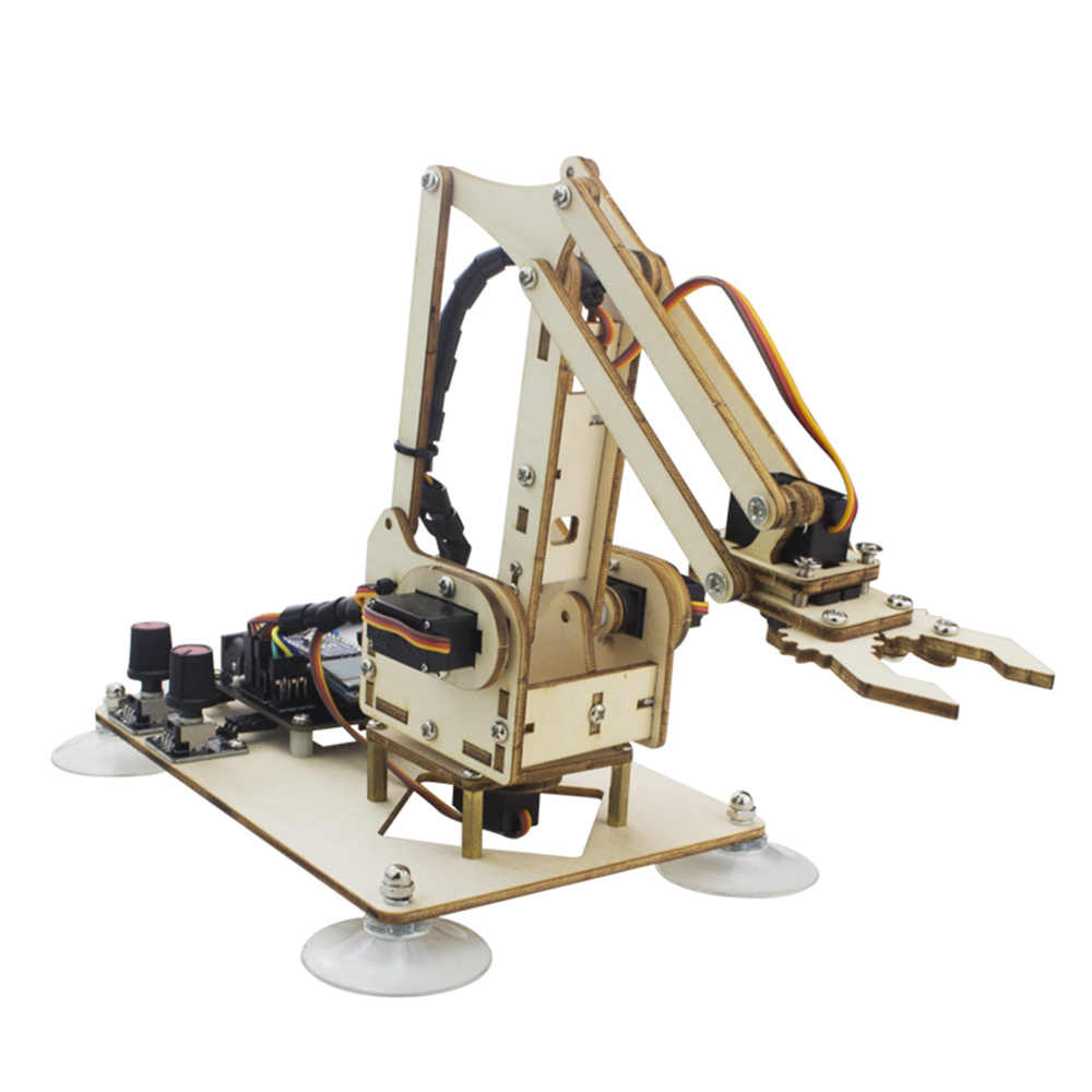 LOBOT WoodenArm с открытым исходным кодом RC рука робота программируемый инфракрасный управление распознавание цвета руки комплект для детей подарок