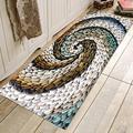 Шикарный вращающийся 3D-коврик с галькой  коврик для прихожей  противоскользящий впитывающий водный коврик для ванной  кухонный коврик