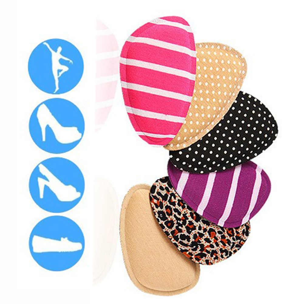 4D memoria algodón Polka Dot leopardo rayas suelas Forefoot suave mujeres alto talón pie protección antideslizante zapato de suelas