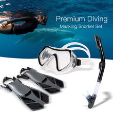купить Lixada Swimming Diving Set with Silicone Mask Swimming Fins Dry Top Snorkel Quick Dry Gear Bag Professional Diving Fins swimwear по цене 2101.78 рублей
