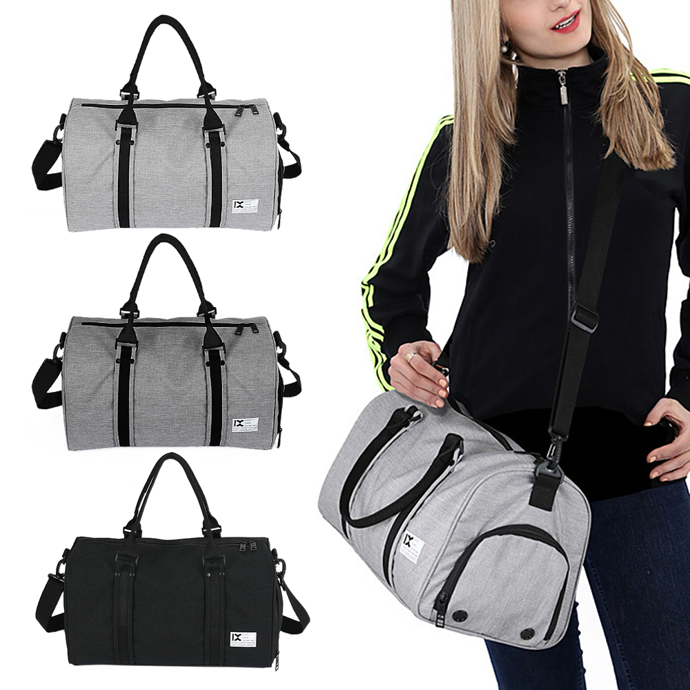 28L Men Women Fitness Bag Waterproof Duffele Travel Bag With Separate Shoe Compartment Sports Backpack Gym Tote Bag