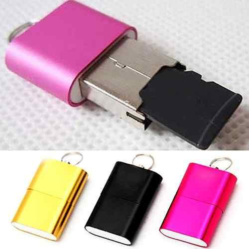 1 قطعة لون عشوائي جديد وصول بارد عالية السرعة البسيطة USB 2.0 مايكرو SD TF T-فلاش ذاكرة قارئ بطاقات