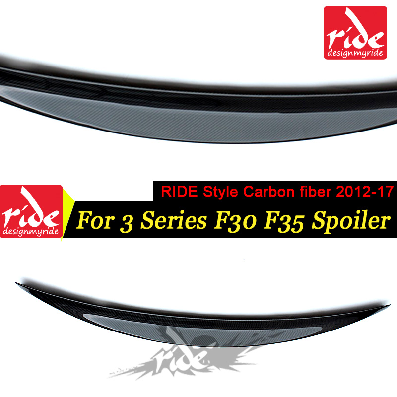 For BMW F30 F35 3-Series 320i 320d 325i 328i 330i 335i RIDE Style Carbon Fiber Rear Trunk Spoiler Wing Lip Car Styling 2012-2017For BMW F30 F35 3-Series 320i 320d 325i 328i 330i 335i RIDE Style Carbon Fiber Rear Trunk Spoiler Wing Lip Car Styling 2012-2017