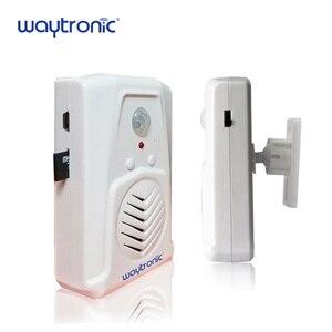 Image 5 - Waytronic Pir kızılötesi hareket sensörü aktif ses kaydedilebilir ses çalar giriş hoşgeldiniz kapı zili mağaza mağaza için Usb ile