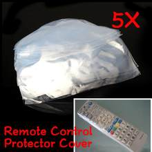 5Pcs Heat Shrink Film TV Air-Conditioner Video Remote Control Protector Covers Waterproof Protective Dust Case Covers(China)