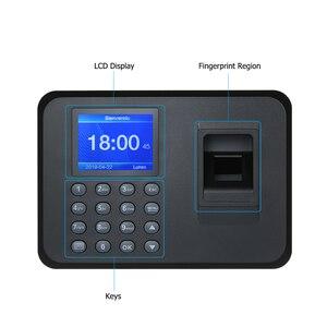 Image 2 - Máquina biométrica de atendimento à impressão digital, display lcd, usb, sistema de atendimento à impressão digital, relógio de tempo, funcionário, verificação no gravador