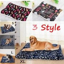 Большая кровать для собак, кошек, щенков, подушка для дома, мягкий теплый коврик для питомцев, одеяло