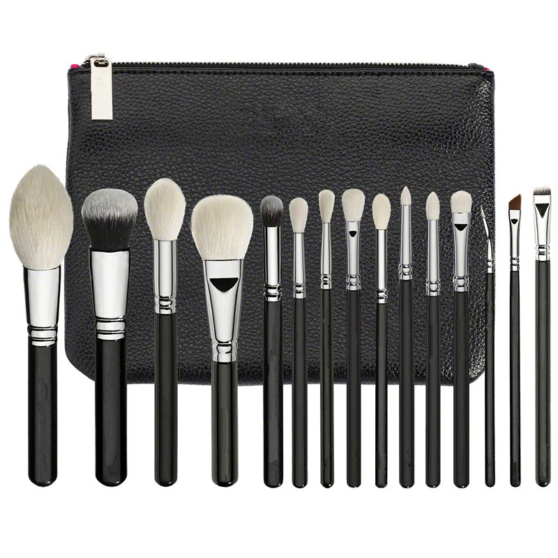 New  Luxe Complete Set 15 pieces Brushes For face & Eyes + Clutch NIBNew  Luxe Complete Set 15 pieces Brushes For face & Eyes + Clutch NIB