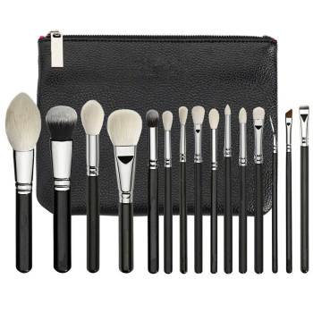 ZOEVA New  Luxe Complete Set 15 pieces Brushes For face & Eyes + Clutch NIB