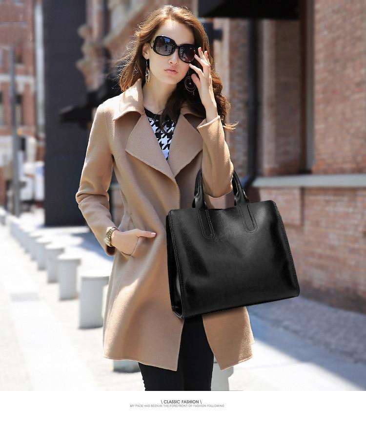 Женские сумки из натуральной кожи, женские сумки на плечо, модные женские сумки из вощеной кожи, Большая вместительная Повседневная сумка, 2020 C836