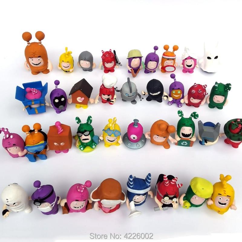 76b9257280f Oddbods Mini Action Figures Newt Buuble Pogo Zee Jeff Fuse Slick Cartoon Figurines  Collectible Dolls Kids Toys for Children Gift