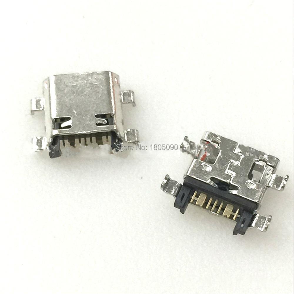 50pcs Micro USB 7Pin Jack Connector Socket Data Charging Port Tail Plug For Samsung I8262 J5 J7 J5008 Mobile Phone Mini USB