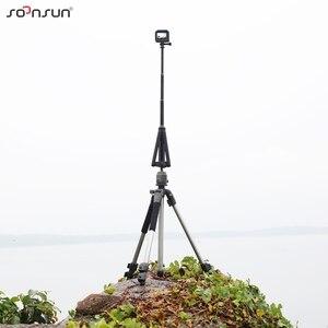 Image 5 - Soonsun 3in1 Opvouwbare Statief Uitschuifbare Monopod Pole Hand Grip Selfie Stick Voor Gopro Hero 9 8 7 6 5 4 voor Dji Osmo Accessoire