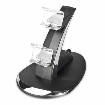 ALLOYSEED Dual Controllers Charger Charging Dock Stand Station for Sony PlayStation 4 PS4 Game Pads Wireless Controller Console