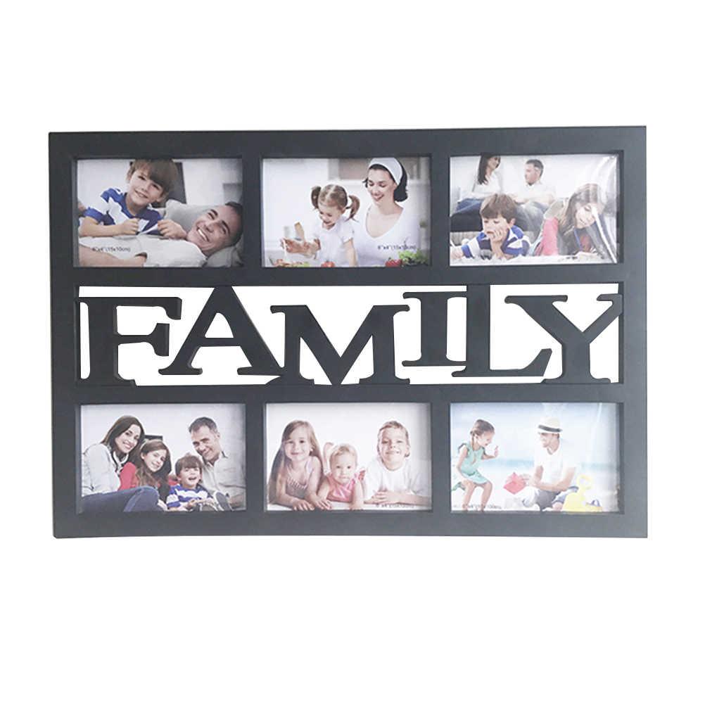 Коллаж семья пластик 6 фото розетки простая фоторамка рамка настенный монтаж дизайн селфи галерея