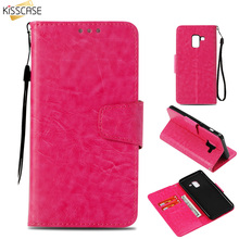 KISSCASE Wallet Holder Flip Case For Samsung S10 S9 S8 Plus S7 S6 Edge Note 9 8 5 Leather A3 A5 A6 A7