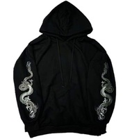2018 New Harajuku Hoodies Dragon Embroidery Gothic Pullover Long Sleeve Sweatshirt Women Outwear