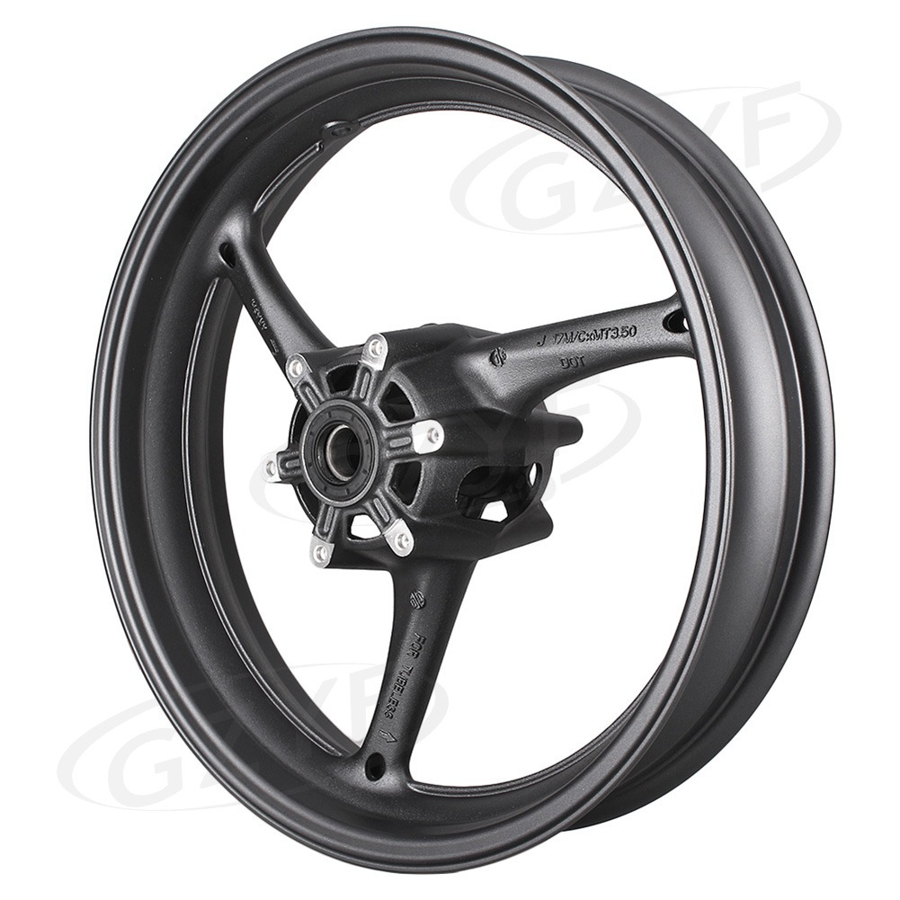 GSXR600/750 Motorcycle <font><b>Front</b></font> <font><b>Wheel</b></font> Rim For <font><b>Suzuki</b></font> <font><b>GSXR</b></font> <font><b>600</b></font>/750 2008 2009 2010 & <font><b>GSXR</b></font> 1000 2009-2016 Matte Black Alloy image