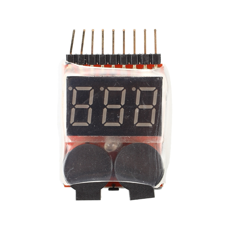 1S-8S Lipo Battery Low Voltage Tester Test VOLTMETRE Test Monitor Buzzer Alarm Indicator Alarm System Kits For Your Lipo Battery