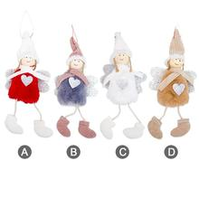 Christmas Decoration Pendant Doll Festival Cute Angel Plush House Ornaments Tree Creative Decorative Accessories