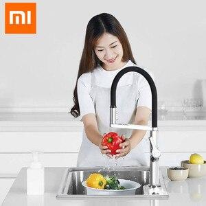Nowy Xiaomi Mijia Dabai u-yue kuchnia inteligentny czujnik przełącznik kran 300 obrotowe ramię uniwersalna rura woda kuchnia Stensils