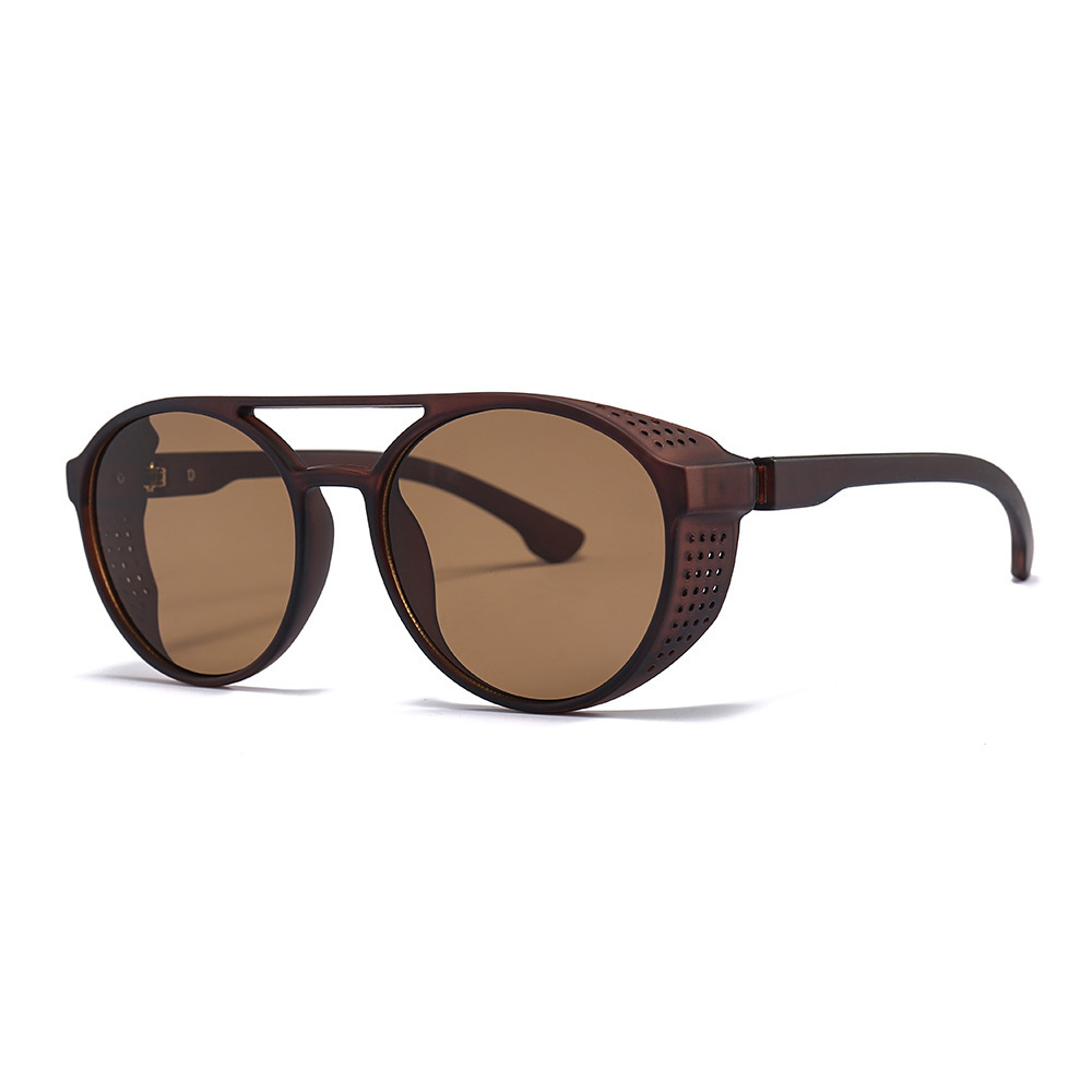LONSY Hot Sale Round Double Beam Sunglasses Women Brand Designer Steam Punk Shields Sunglasses UV400 HD Lenses Sun Glasses