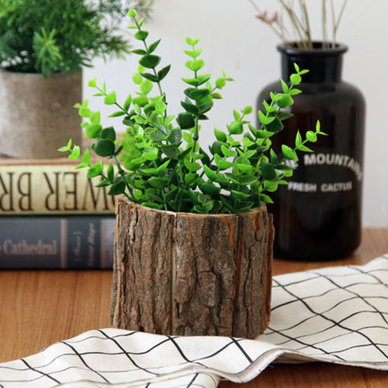 Image 3 - 1pcs Wooden Succulent Planters Small Pots Box Tray Plant Flowerpot  Decoration bonsai flowers and plants-in Flower Pots & Planters from Home & Garden