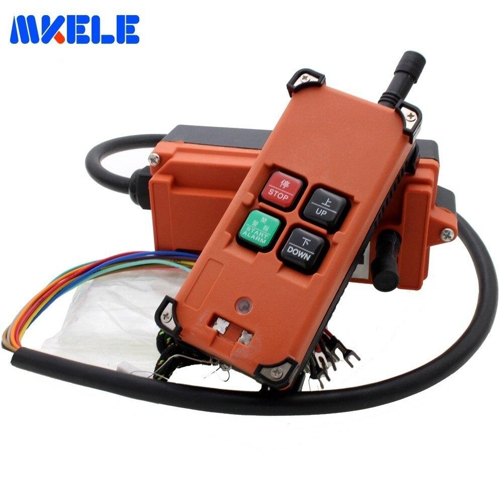 Makerele 4 Touches Électrique Industrielle Télécommande Commutateurs IP65 Palan Grue de Levage De la Grue AC 380 v/220 v DC 12 v/24 v