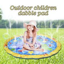 1m PVC Water Spray Pad Inflatable Water Sprinkling Mat Beach Sand Toys Beach/Sand Toy Outdoor Water Party Summer Toy
