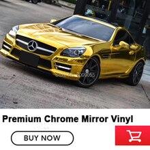 OPLARE 1,52 м * 20 Элитный автомобиль авто автомобиль Зеркало Chrome обёрточная бумага ping клеевая переводная картинка Золотой Блеск Фольга Винил обёрточная бумага крышка
