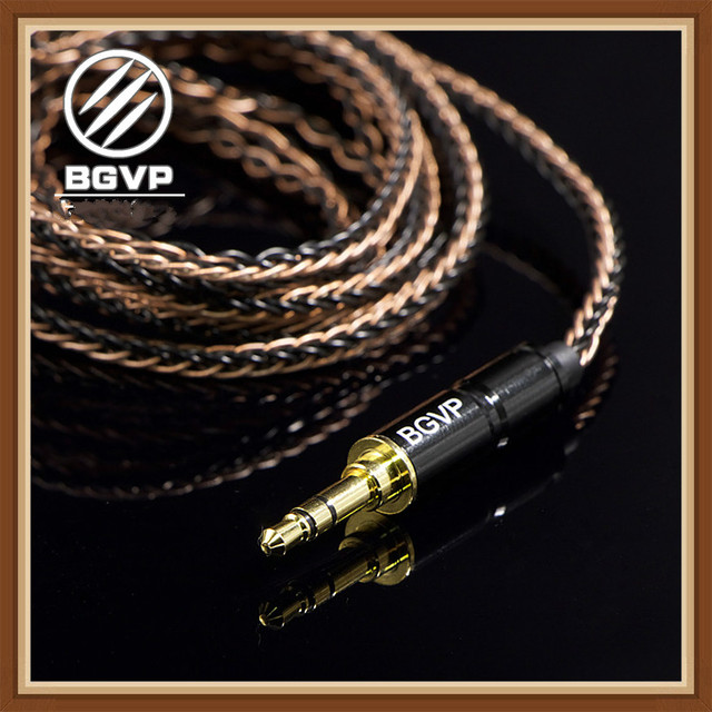 BGVP 5N 160 Core Earphones Hybrid Cable 2.5mm 3.5mm 4.4mm DIY Aficionados MMCX Interchangeable Hifi Headphone Upgrade Cable DM6 1