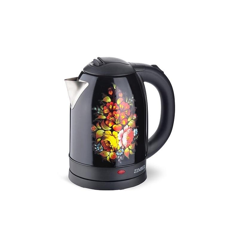 Чайник электрический ZIMBER, 2 л, 1500W, черный электрический чайник чудесница эч 2010