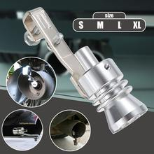 Universal Car Size S M L XL Fake Turbo Sound Whistler Muffler Exhaust Pipe Blow Off Valve Bov Simulator(China)
