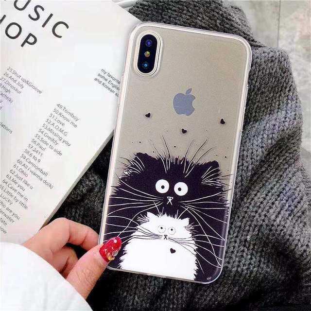 """Mokoemi Lucu Transparan TPU Lembut 5.8 """"untuk iPhone X XS XR Case untuk Apple Iphone X XR X Max 6.5 """"Cell Phone Case Cover"""