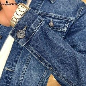 Image 5 - Yeni erkek ceket Retro Denim ince moda Denim ceket Denim ceket rahat sokak giyim erkek büyük boy 915 #