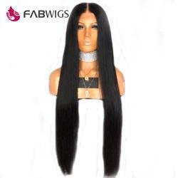 Fabwigs 150% плотность шелковистая прямая Синтетические волосы на кружеве натуральные волосы парики с ребенком волосы бразильский Реми