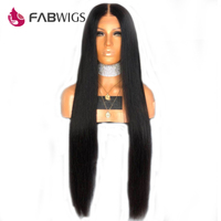 Fabwigs 150% Density Silky Straight Lace Front Human Hair Wigs with Baby Hair Brazilian Remy Human Hair Wigs