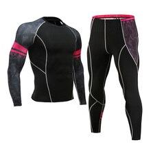 Термобелье мужской костюм милый костюм флисовые подштанники быстросохнущее термобелье Набор для бега плотные спортивные мужские 4XL
