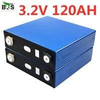 8PCS 3.2V120AH cells Lifepo4 12v 24V battery high capacity long life 3500 Cycles for Solar power system UPS supply