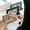 Escritório de madeira do vintage casa calendário café decorativo ornamentos rústicos diy flip